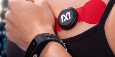 Band and monitor track ECG and heart-rate signals