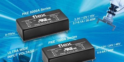 Wide input DC/DC converters serve industry and rail