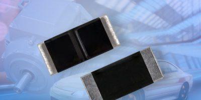 Automotive-grade current sense resistors eliminate parallel elements