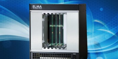 Liquid flow through cooling chassis accommodates up to six boards