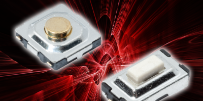 Miniature tact switches save PCB space for home automation
