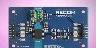 Dengrove adds Recom's isolated CAN-transceiver reference board