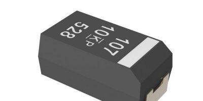 Kemet extends tantalum polymer capacitors for ADAS