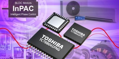 Three-phase brushless motor controller ICs have sine wave drive