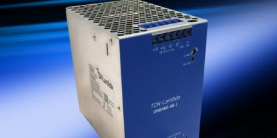 DIN rail power supply provides additional space for other rails