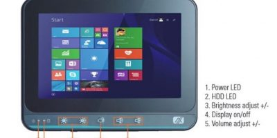 Fanless touch panel computer installs HMI in tight spaces