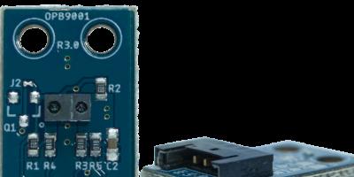 Low profile reflective sensor negates peripheral circuitry