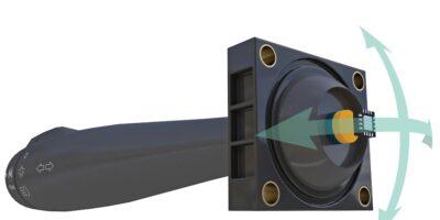 3D Hall-effect sensor has magnetic node for contactless sensing