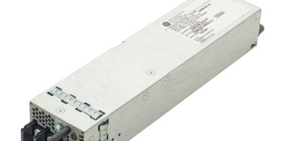 DC input, hot swappable power supply is compact