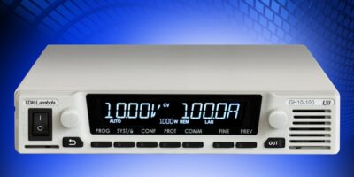 Programmable DC power supplies are available in full or half rack sizes