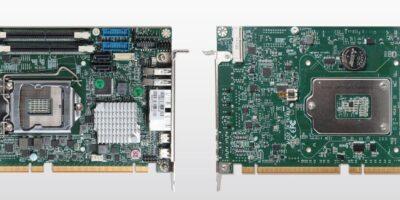 Half-size board has workstation and desktop processor options
