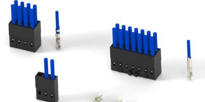 Wire-to-board crimp receptacles and headers save PCB space