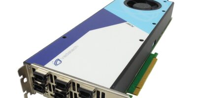 PC1597 PCIe card's active cooling aids power-hungry applications