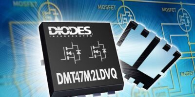40V dual MOSFET replaces two discretes in automotive applications