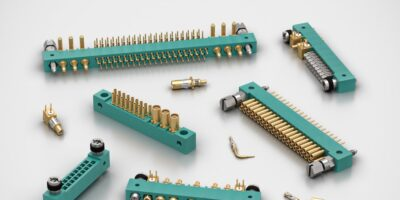 Two-part PCB connectors are rugged for mil-aero systems