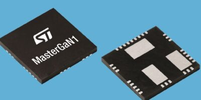 Integrated Si driver and GaN transistors shrink chargers and adapters